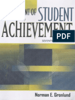 Assessment of Student Achievement - Chapter 1 - Norman E Gronlund