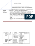 Basic Course Outline of Assessment