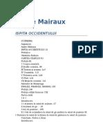 Andre Malraux - Ispita Occidentului