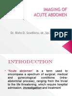 6 Imaging of Acute Abdomen
