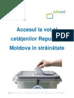 Studiu Accesul La Vot Al Cetatenilor Republicii Moldova in Strainatate