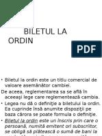 Biletul La Ordin 1