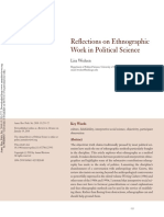 Reflections on Ethnographic Work in Political Science