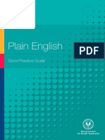 Good Practice Guide Plain English