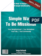 Simple Ways to Be Missional eBook Updated