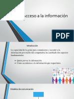 3. Acceso a La Información