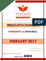 Insights Into Editorial Feb 2017