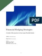 استراتيجيات التحوط المالي