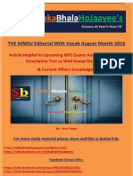 Hindu Editorial Aug 2016