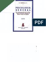 Psicología General. Una Interpretación de La Ciencia de La Mente Basada en Santo Tomás de Aquino. BRENNAN O. P