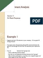 S 11-Discriminant Analysis-Dr Plavini