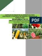 Cartilha de Receitas Alternativas Para Prevenção e Controle de Pragas e Doenças Na Agricultura