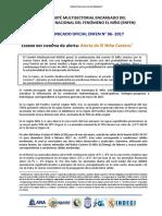 ALERTA DEL NIÑO COSTERO - COMUNICADO OFICIAL ENFEN N° 06- 2017