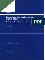 Ligas de Níquel Resistentes a Corrosão e Ao Calor