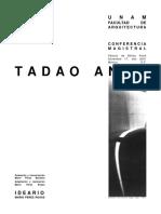 Conferencia Tadao Ando UNAM Mex