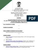 NID Board Agenda March 22, 2017