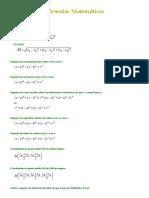 Fórmulas _ Equações diversas