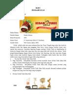 Makalah Analisis Manajemen Pemasaran - UKM Kebab Turki Baba Rafi