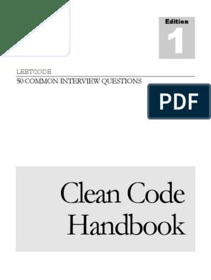 CleanCodeHandbook_v1 0 1 (1) pdf | String (Computer Science