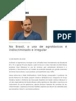 No Brasil, o Uso de Agrotóxicos é Indiscriminado e Irregular