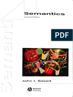 Semantics - Saeed