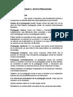 BLOQUE 6:SOCIO-PEDAGOGIA