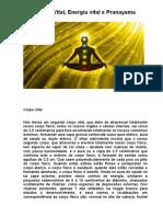 Corpo Vital, Energia Vital e Pranayama