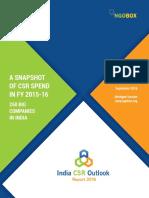 India CSR Outlook Report 2016-NGOBOX