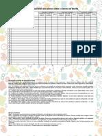 Tabela Registro Niveis Alfabetizacao