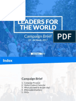 leaders for the world - campaign brief