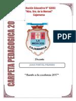 """Carpeta Pedagógica Institución Educativa N° 82003 """"Nuestra Sra de La Merced"""" CAJAMARCA"""