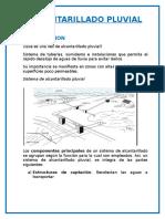 INFORME ALCANTARILLADO PLUVIAL