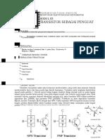Modul 5 Transistor Sebagai Penguat
