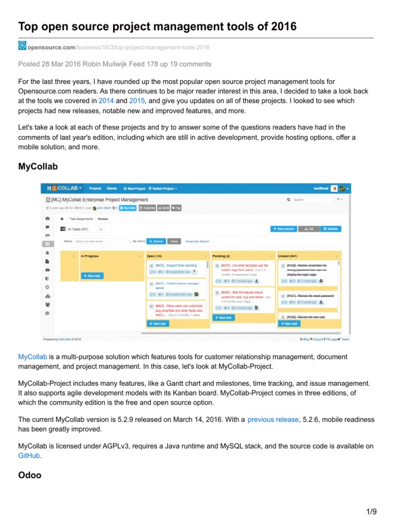Opensource top open source project management tools of 2016 opensource top open source project management tools of 2016 application programming interface web application nvjuhfo Image collections