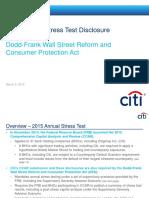 Citi DFAST Disclosure