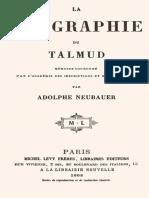 Adolphe Neubauer. La Géographie Du Talmud (Khazarzar)