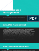 Data Resource Management