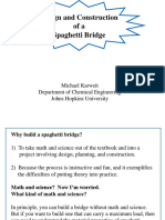 Spaghetti Bridge Construction Hints