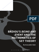 Badiou's Being & Event & the Mathematics of Set Theory-Burhanauddin Baki