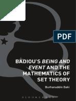 Badiou's Being & Event & the Mathematics of Set Theory-Burhanauddin Baki