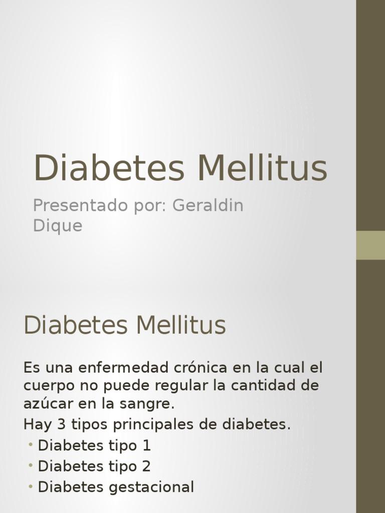 3 tipos principales de diabetes mellitus