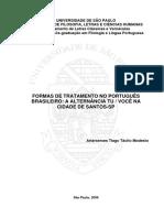 Formas de Tratamento No Portugues