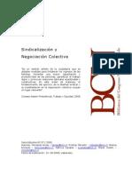 Sindicalizacion y Negociacion Colectiva - Chile