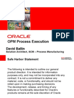 OPM Process Execution R12