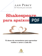 Shakespeare Para Apaixonados - Allan Percy