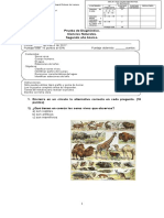 Prueba diagnóstico ciencias naturales 2° básico 2017
