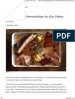 A Look at Personalities on Our Plates