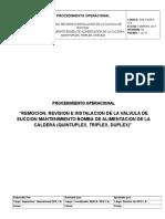 Ope-pgsps-015 Remocion, Revision e Instalacion de La Valvula de Succion Mantenimiento Bomba de Alimentacion de La Caldera