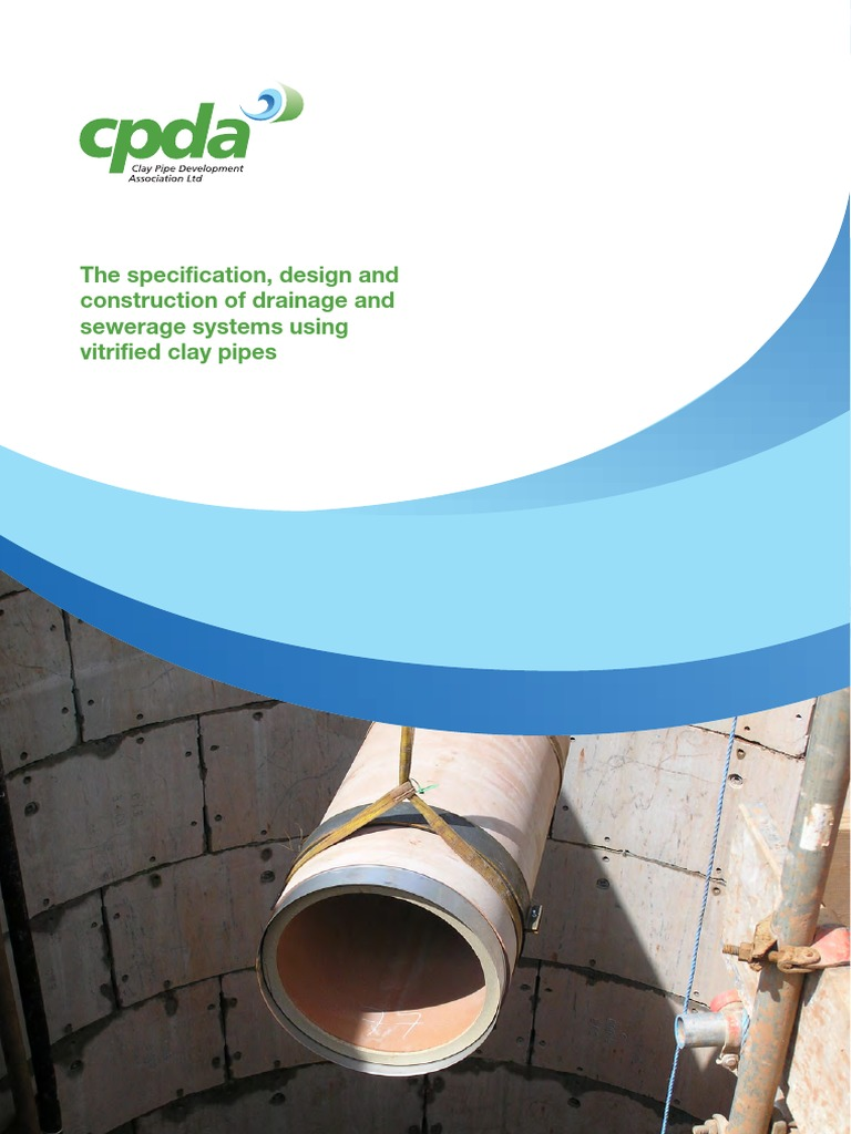 Cpda the specification design and construction of drainage and cpda the specification design and construction of drainage and sewerage systems using vitrified clay pipes sanitary sewer pipe fluid conveyance fandeluxe Choice Image
