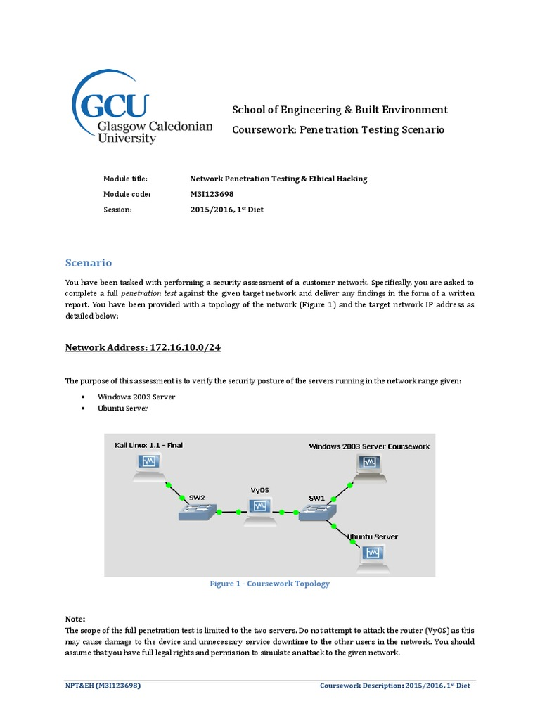 gcu coursework submission form